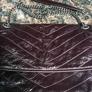 Authentic YSL Brown Crossbody three style in One